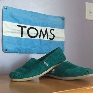 Teal Corduroy TOMS